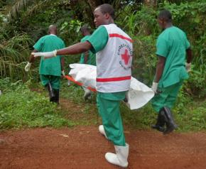 Red Cross workers in Guinea respond to the ongoing Ebola outbreak