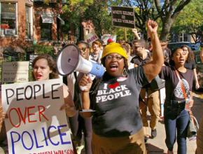 Boston protesters march in solidarity with Ferguson October