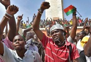 Celebrations after Burkina Faso President Blaise Compaoré steps down