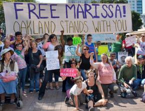 A solidarity demonstration for Marissa Alexander in the Bay Area