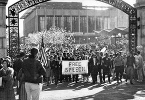 The Free Speech Movement on the march at UC Berkeley