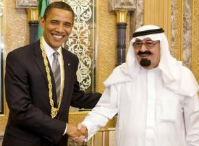 President Obama with Saudi King Abdullah