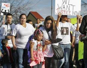 Demonstrating for justice for Antonio Zambrano-Montes in Pasco, Washington