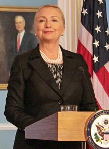 Hillary Clinton during her tenure as secretary of state
