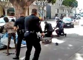 The LA police murder of a homeless man was captured on video
