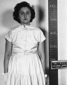 Ethel Rosenberg after her arrest in 1950
