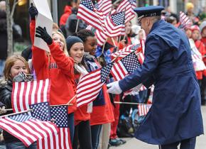 Veterans Day parade in Pittsburgh