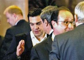 Prime Minister Alexis Tsipras at a summit of European leaders