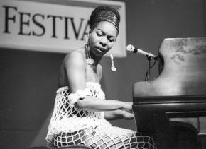 Nina Simone performs at the Montreux Jazz Festival in 1976