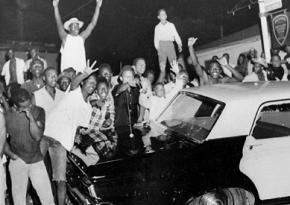 Residents of the LA neighborhood of Watts during the 1965 rebellion