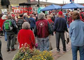 Grays Harbor County residents gather to defend their homes from a proposed petroleum facility