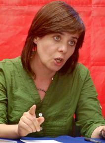 Bloco de Esquerda spokesperson Catarina Martins