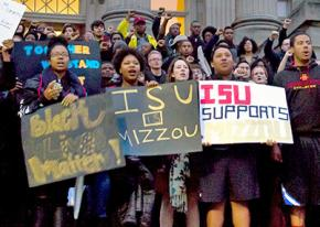 Iowa State University students stand up to racism on their campus