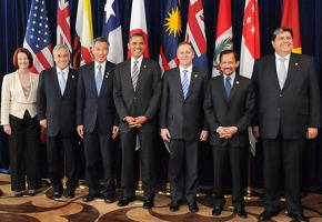 Leaders of some of the countries covered by the Trans Pacific Partnership trade deal