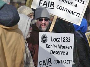 UAW members at Kohler walk the picket line