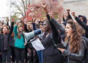 Boston University students demand action against racist harassment and discrimination