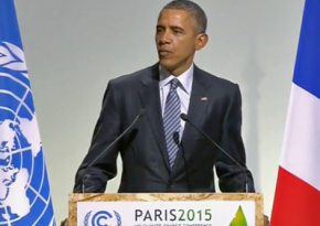 President Obama addresses the UN climate summit in Paris
