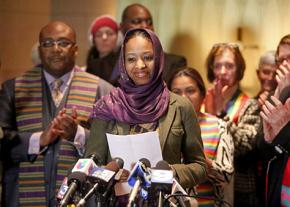 Dr. Larycia Hawkins speaks out at a press conference