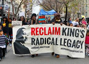 Oakland activists march on Martin Luther King Jr. Day