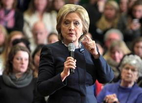 Hillary Clinton speaking on the campaign trail