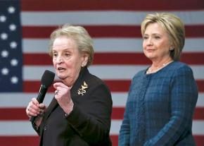 Madeleine Albright and Hillary Clinton