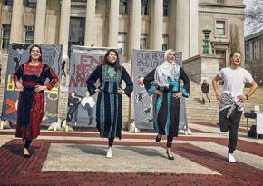 A performance on campus by the Columbia Palestinian Dabke Brigade