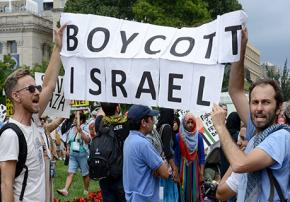 Gaza solidarity activists call for a boycott against Israel