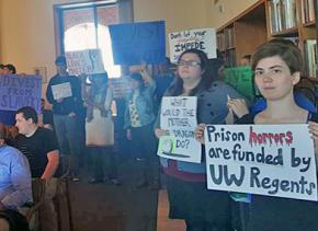 University of Washington students speak out at a Board of Regents meeting