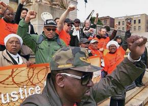 Activists reach the end of a 150-mile March 4 Justice for the wrongfully convicted