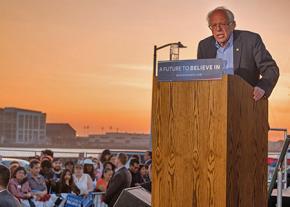Bernie Sanders campaigning in California