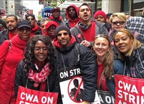 Verizon strikers united on the picket line in New York City