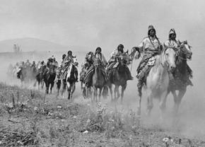 Members of the Nez Perce nation fled the U.S. Army through Yellowstone in 1877