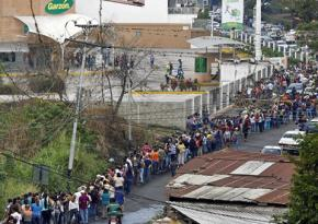 Lines outside supermarkets in Venezuela have grown longer