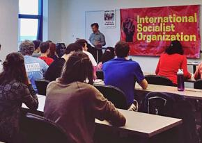 Students discuss building a socialist movement at Loyola University in Chicago