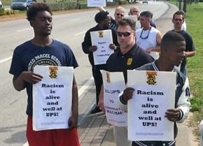UPS workers in Riviera Beach, Florida, protest racism in the workplace