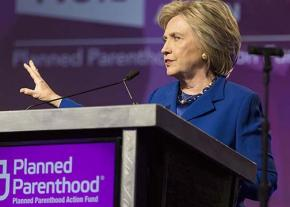 Hillary Clinton speaks at a Planned Parenthood fundraiser in Washington, D.C.