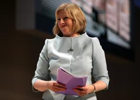 Tory Prime Minister Theresa May in 2009