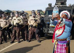 Militarized riot police crack down on the water protectors at Standing Rock