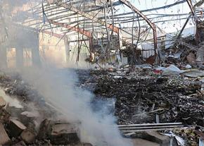 A Saudi air strike on a funeral ceremony in Sanaa left more than 140 people dead