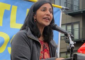 Socialist activist and Seattle City Council member Kshama Sawant