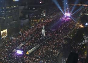 Over a million protesters take to the streets of Seoul to demand the ouster of Park Geun-hye