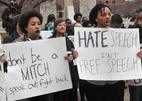 Students send a message against racism at Purdue University in Indiana