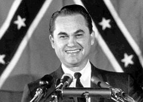Alabama Governor George Wallace on the presidential campaign trail in 1968