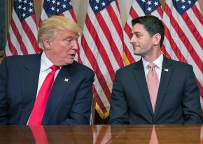 Donald Trump with House Speaker Paul Ryan