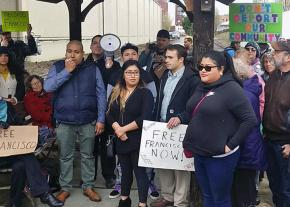 Supporters of Francisco Rodriguez Dominguez rally in Portland, Oregon, against his detention