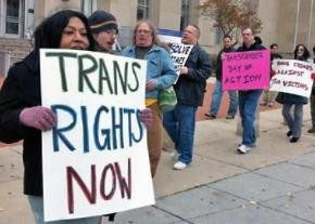 Protesting an anti-trans ordinance in an Alabama town