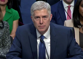 Trump's Supreme Court nominee Neil Gorsuch at his Senate confirmation hearing