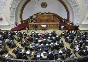 The Venezuelan National Assembly in Caracas