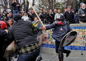 Members of far-right organizations came ready for a fight in Berkeley