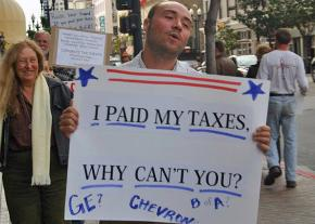 Protesters target the 1 Percent on Tax Day in San Diego